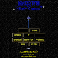 Replica of the 2005 version of MACJR'S Mini-Verse²