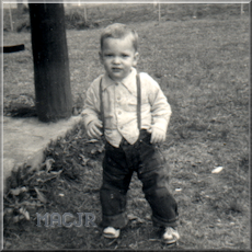 Little MACJR at the Machias Schoolhouse playground - about 1964