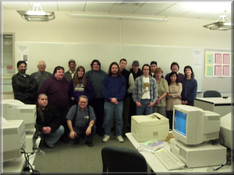 MACJR in class picture, front-center - CIS 116 - Winter Quarter 1999